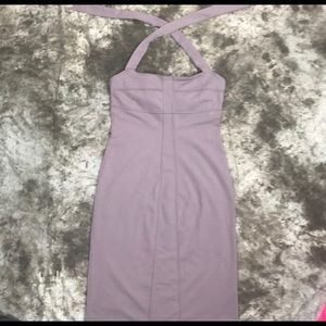 Athleta Lavender form fitting halter dress
